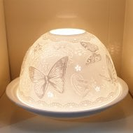 Candle Shade & Plate - Butterflies