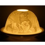 Candle Shade & Plate - Cats & Butterfly