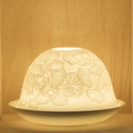 Candle Shade & Plate - Dangling Flowers