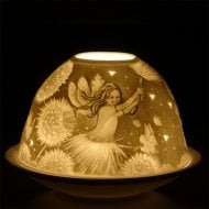 Candle Shade & Plate - Fairy And Flower