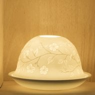 Candle Shade & Plate - Plum Blower
