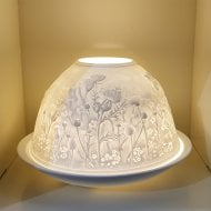 Candle Shade & Plate - Scottish Thistle