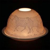 Candle Shade & Plate - Zebra