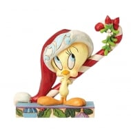 Candy Cane Cutie Tweety Christmas Figurine