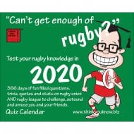 Cant Get Enough Rugby 2020 Desk Calendar