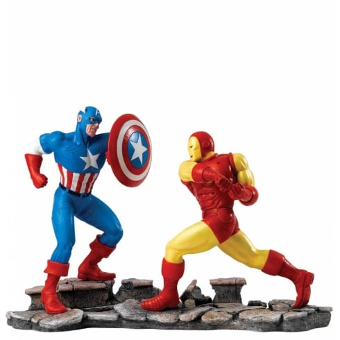 Marvel by Enesco Captain America VS Iron Man Figurine