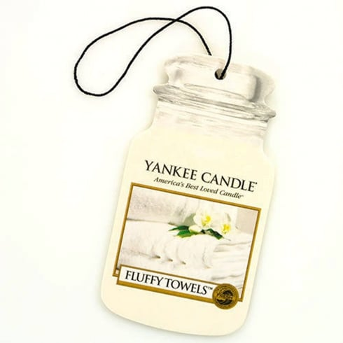 Yankee Candle Car Jar Air Freshener Fluffy Towels