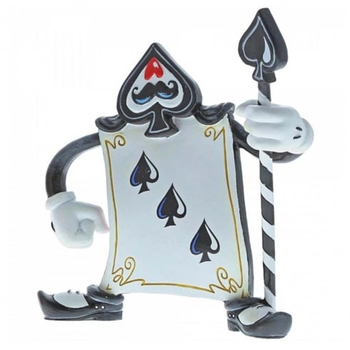 The World of Miss Mindy Presents Disney Card Guard 3 of Spades Figurine