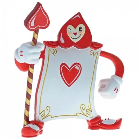 The World of Miss Mindy Presents Disney Card Guard Ace of Hearts Figurine