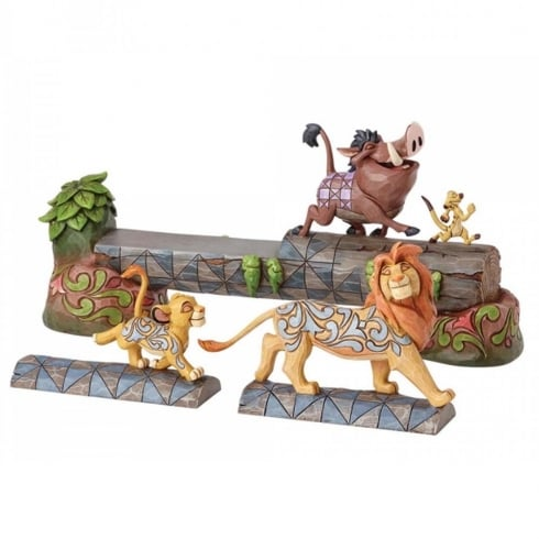 Disney Traditions Carefree Camaraderie Lion King Figurine