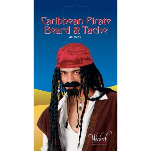 Wicked Costumes Caribbean Pirate Beard & Tash