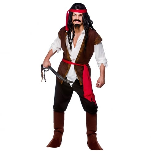 Wicked Costumes Caribbean Pirate Man Costume Large
