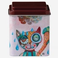Cat Design Metal Storage Tin