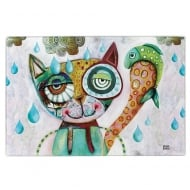 Cat Glass Chopping Board / Hotpad