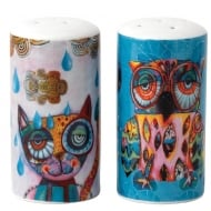 Cat & Owl Salt & Pepper Set