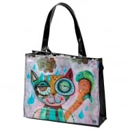 Cat Vinyl Shopping Bag