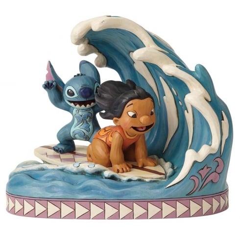 Disney Traditions Catch The Wave Lilo and Stitch Figurine