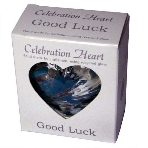 Milford Collection Celebration Heart - Good Luck