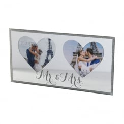 Celebrations Mr & Mrs Sparkle Mirror Double Photo Frame