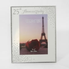 Celebrations Sparkle 25th Anniversary 5 x 7 Photo Frame