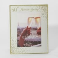 Celebrations Sparkle 50th Anniversary 5 x 7 Photo Frame
