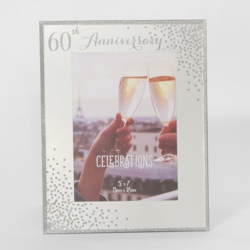Celebrations Sparkle 60th Anniversary 5 x 7 Photo Frame