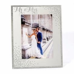Celebrations Sparkle Mr & Mrs Engagement 5 x 7 Wedding Photo Frame