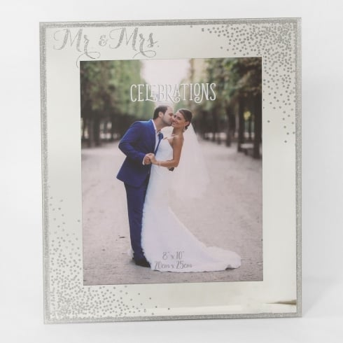 Widdop Bingham Celebrations Sparkle Mr & Mrs Engagement 8 x 10 Photo Frame
