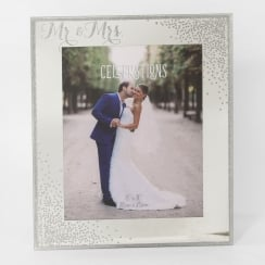 Celebrations Sparkle Mr & Mrs Engagement 8 x 10 Photo Frame