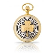 Celtic/Gold Shamrock Pocket Watch