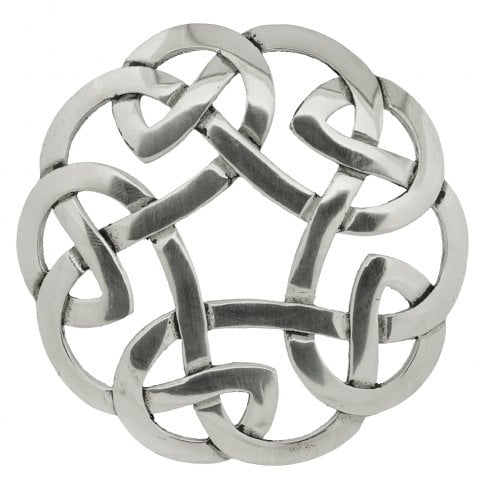 Art Pewter Celtic Interlace Plaid Brooch