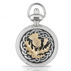 Celtic Knot Thistle Ladies Pendant Watch
