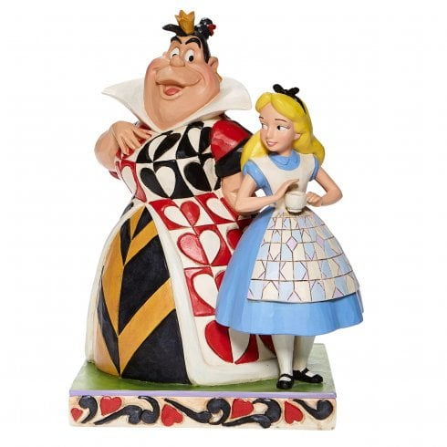 Disney Traditions Chaos and Curiosity Alice and Queen of Hearts