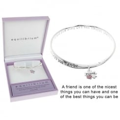 Charm Message Bangle Friend
