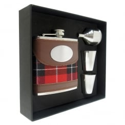 Check Hip Flask Set