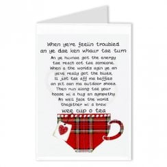 Cheer Up Cup O Tea Scottish Friend Card
