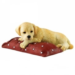 Chilling Out Golden Puppy Labrador Figurine