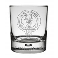 Chisholm Clan Crest Whisky Glass Tumbler