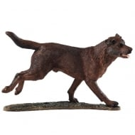 Chocolate Labrador Figurine