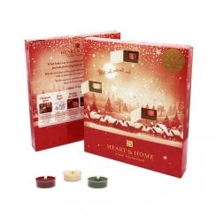 Christmas Advent Calendar 26 Tealights Gift Set