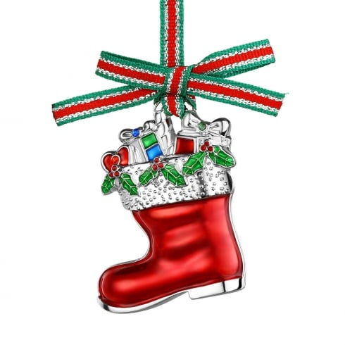 Newbridge Silverware Christmas Boot With Presents Hanging Decoration