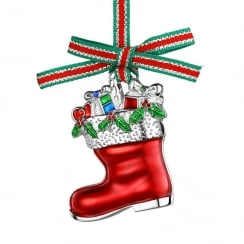 Christmas Boot With Presents Hanging Decoration