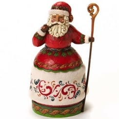 Christmas Cheer Santa With Pipe And Cane Figurine