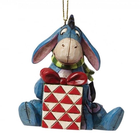 Disney Traditions Christmas Eeyore with present Hanging Ornament