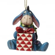 Christmas Eeyore with present Hanging Ornament
