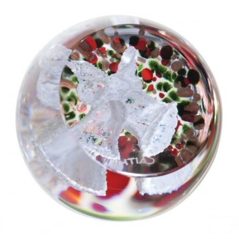Caithness Glass Christmas Frostings Bells Paperweight