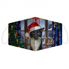 Christmas Krampuss Cat Face Covering - Large