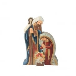 Christmas Nativity Scene Joseph Mary & Baby Colour Figurine Large