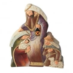 Christmas Nativity Scene Joseph Mary & Shepherd Colour Figurine