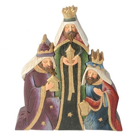 Gleneagles Studio Christmas Nativity Three Wise Men Group Colour Figurine Large